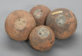 Military & Patriotic:Civil War, Group of Four Bormann Fused Spherical Shells.... (Total: 4 Items)