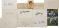 Autographs:Letters, Baseball Hall of Famers Signatures Lot of 12. Applied to index andother various cuts, this group of 12 autographs has eac...