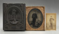 Photography:Tintypes, Half-Plate Tintype and CDV of Union Sailor.... (Total: 2 Items)