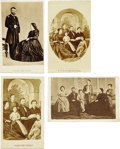 Photography:CDVs, Four Lithographic Cartes de Visite Images of General U.S. Grant and Family....