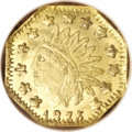 California Fractional Gold, 1875 50C Indian Octagonal 50 Cents, BG-933, R.5, MS66 ProoflikeNGC....