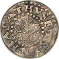 Colonials, 1662 2PENCE Oak Tree Twopence VF20 PCGS....
