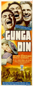 "Movie Posters:Action, Gunga Din (RKO, 1939). Insert (14"" X 36"")...."