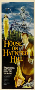 "Movie Posters:Horror, House on Haunted Hill (Allied Artists, 1959). Insert (14"" X36"")...."