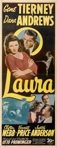 "Movie Posters:Film Noir, Laura (20th Century Fox, 1944). Insert (14"" X 36"")...."
