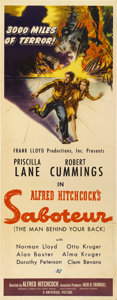 "Movie Posters:Hitchcock, Saboteur (Universal, 1942). Insert (14"" X 36"")...."