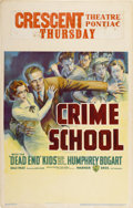 "Movie Posters:Crime, Crime School (Warner Brothers, 1938). Window Card (14"" X 22"")...."