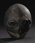 African: , Ibibio? (Nigeria). Mask, traces of pigment, feathers. Wood,pigment. Height: 8 ½ inches Width: 6 5/8 inches Depth: 3 ¾ inc...