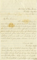 Military & Patriotic:Civil War, Group of Five Civil War Union Sailor's Letters written by George Peirce to his grandmother from on board the U.S.S. Santee... (Total: 5 )