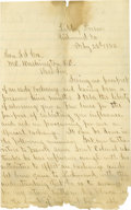 Autographs:Military Figures, Civil War Soldiers' Letters. Group lot of six letters by soldierstotaling 21 pages with a variety of content. Most notably,...(Total: 6 )