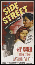 """Movie Posters:Film Noir, Side Street (MGM, 1950). Three Sheet (41"""" X 81""""). Film Noir. Starring Farley Granger, Cathy O'Donnell, James Craig and Paul ..."""