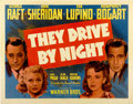 """Movie Posters:Drama, They Drive by Night (Warner Brothers, 1940). Half Sheet (22"""" X 28"""") Style A...."""