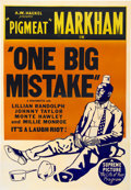 "Movie Posters:Black Films, One Big Mistake (Supreme, 1940). One Sheet (27"" X 41"")...."