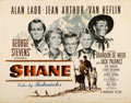 "Movie Posters:Western, Shane (Paramount, 1953). Half Sheet (22"" X 28"") Style B...."