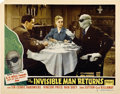 """Movie Posters:Horror, The Invisible Man Returns (Realart, R-1948). Lobby Card (11"""" X 14"""")...."""