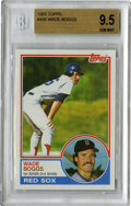 Baseball Cards:Singles (1970-Now), 1983 Topps Wade Boggs #498 Beckett 9.5 Gem Mint. Exceptional rookie Wade Boggs card is almost flawless in every way....