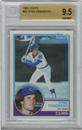 Baseball Cards:Singles (1970-Now), 1983 Topps Ryne Sandberg #83 Beckett 9.5 Gem Mint. Ryno excelled asthe second-bagger for the Chicago Cubs, becoming the mo...