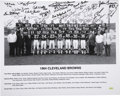 Football Collectibles:Others, 1964 Cleveland Browns Team Signed Photograph. The city of Cleveland was made proud in 1964 when their Browns took home the N...