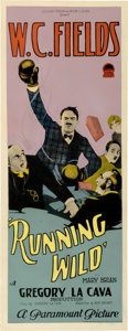 "Movie Posters:Comedy, Running Wild (Paramount, 1927). Insert (14"" X 36"")...."