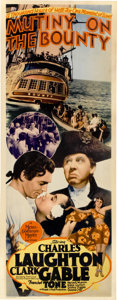 "Movie Posters:Academy Award Winner, Mutiny On The Bounty (MGM, 1935). Insert (14"" X 36"")...."