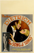"Movie Posters:Drama, The Song of Songs (Paramount, 1933). Window Card (14"" X 22"")...."