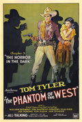 "Movie Posters:Serial, The Phantom of the West (Mascot, 1931). One Sheet (27"" X 41"")Chapter 3 -- ""The Horror in the Dark.""..."