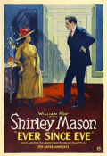 "Movie Posters:Comedy, Ever Since Eve (William Fox, 1921). One Sheet (27"" X 41"")...."