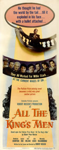 "Movie Posters:Academy Award Winner, All the King's Men (Columbia, 1949). Insert (14"" X 36"")...."