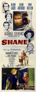 "Movie Posters:Western, Shane (Paramount, 1953). Insert (14"" X 36"")...."