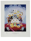 """Original Comic Art:Miscellaneous, Carl Barks - """"Lavender and Old Lace"""" Miniature Lithograph LimitedEdition Print #405/595 (Another Rainbow, 1996).... (Total: 2 Items)"""