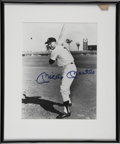 "Autographs:Photos, Mickey Mantle Signed Photograph. Sure to make an elegant additionto any high-caliber collection, this attractive 8x10"" bla..."