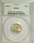 Barber Dimes: , 1913 10C MS64 PCGS. PCGS Population (209/106). NGC Census:(189/90). Mintage: 19,760,622. Numismedia Wsl. Price for NGC/PCG...