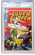 Silver Age (1956-1969):Superhero, The Silver Surfer #10 (Marvel, 1969) CGC NM+ 9.6 Off-white to white pages....