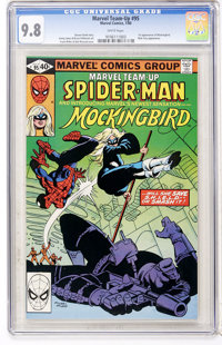 Marvel Team-Up #95 Spider-Man and Mockingbird (Marvel, 1980) CGC NM/MT 9.8 White pages