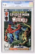 Modern Age (1980-Present):Superhero, Marvel Team-Up #93 Spider-Man and Werewolf (Marvel, 1980) CGC NM/MT9.8 White pages....
