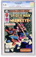 Modern Age (1980-Present):Superhero, Marvel Team-Up #92 Spider-Man and Hawkeye (Marvel, 1980) CGC NM/MT9.8 White pages....