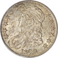 Bust Half Dollars, 1828 50C Curl Base 2, No Knob MS63 PCGS....