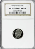 Proof Roosevelt Dimes: , 1997-S 10C Clad PR70 Ultra Cameo NGC. NGC Census: (117/0). PCGSPopulation (50/0). Numismedia Wsl. Price for NGC/PCGS coin...