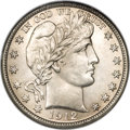 Barber Half Dollars, 1912-D 50C MS65 NGC....