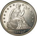 Seated Dollars, 1862 $1 MS64 ★ NGC....