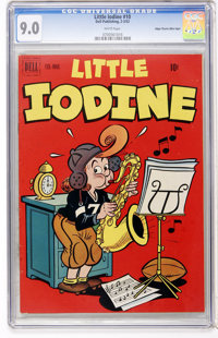 Little Iodine #10 Mile High pedigree (Dell, 1952) CGC VF/NM 9.0 White pages