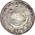 Colonials, 1776 $1 Continental Dollar, CURENCY, Pewter AU55 PCGS....