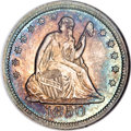 Seated Quarters, 1850 25C MS64 NGC....