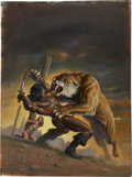 Original Comic Art:Covers, Bob Larkin Savage Sword of Conan #27 Cover Painting OriginalArt (Marvel, 1978)....