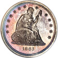Proof Seated Quarters, 1863 25C PR66 NGC....