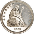 Proof Seated Quarters, 1862 25C PR66 NGC....