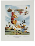 "Original Comic Art:Miscellaneous, ""Flubbity Dubbity Duffer"" by Carl Barks Lithograph Print #528/595 (Another Rainbow, 1999).... (Total: 2 Items)"