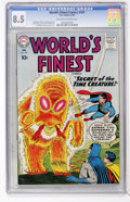 Silver Age (1956-1969):Superhero, World's Finest Comics #107 (DC, 1960) CGC VF+ 8.5 Off-white to white pages....