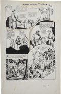 Original Comic Art:Panel Pages, Alex Blum - Classics Illustrated #90 Green Mansions, page 28 and 29 Original Art (Gilberton, 1951).... (Total: 2 Items)