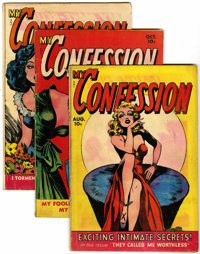 My Confession and My Love Memoirs Group (Fox Features Syndicate, 1949) Condition: Average VG+.... (Total: 4 Comic Books)